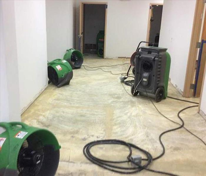 Water Damage to a Carol Stream Office Building After